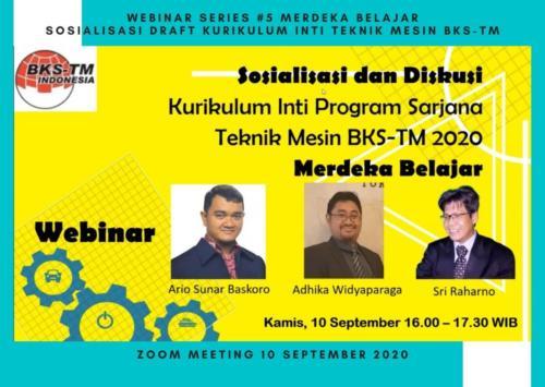 Webinar Series #5 Merdeka Belajar (Sosialisasi Draft Kurikulum Inti & Bahan Ajar BKS-TM)