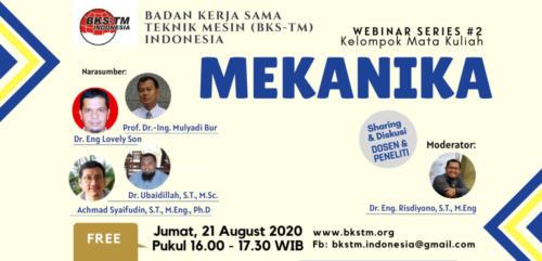 Webinar Series #2 Mekanika (Sosialisasi Draft Kurikulum Inti & Bahan Ajar BKS-TM)