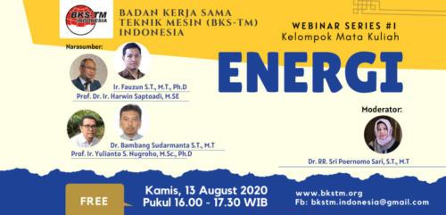 Webinar Series #1 Energi (Sosialisasi Draft Kurikulum Inti & Bahan Ajar BKS-TM)