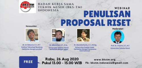 "Webinar ""Penulisan Proposal Riset"""